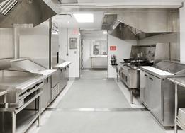 clean stainless steel kitchen