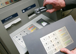 photo of ATM with skimmer