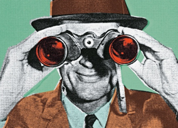 illustration of man with binoculars