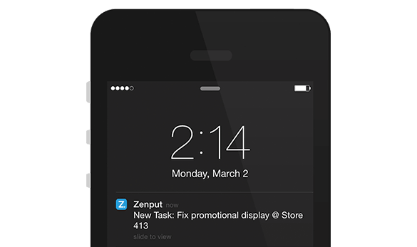 Mobile Task Push Notification